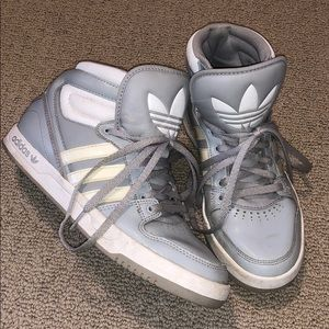 Adidas Grey High Top Sneakers